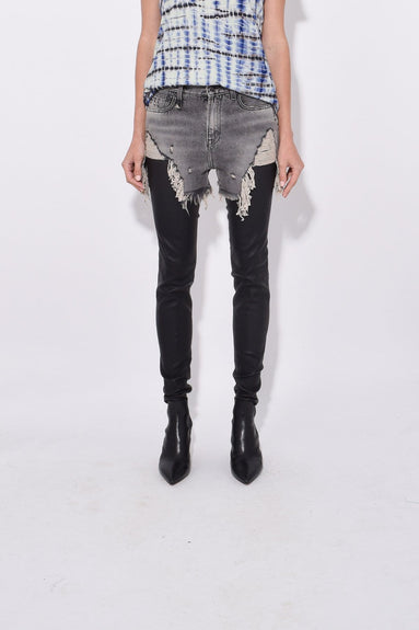 Shredded Slouch Chaps in Leyton Black