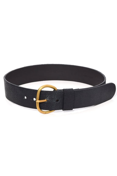 Estate Belt in Black Distressed