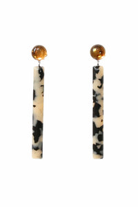 Mission Earring in Brown Resin/Dalmation