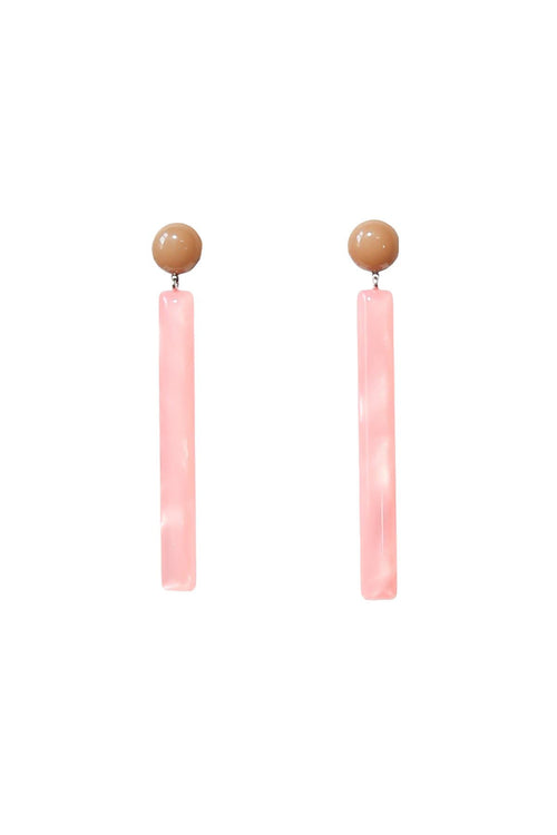 Mission Earring in Camel/Pink