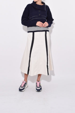 Morphe Skirt in Dirty White/Washed Black