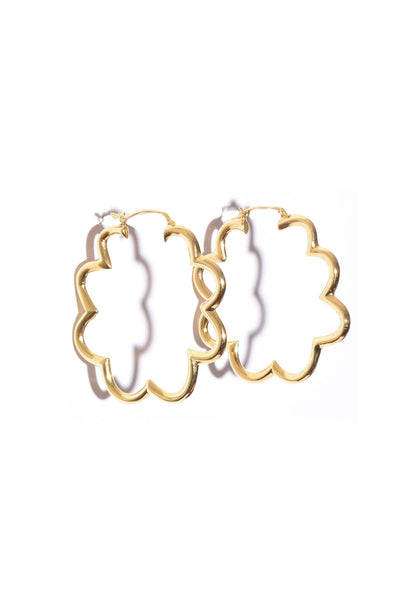Small Zinnia Earring in Gold