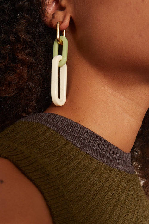 Nesso Earring in Creme/Gold