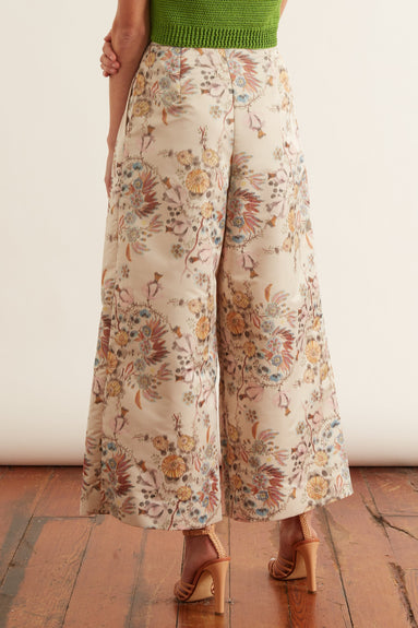 Sambita Pant in Ivory Multi