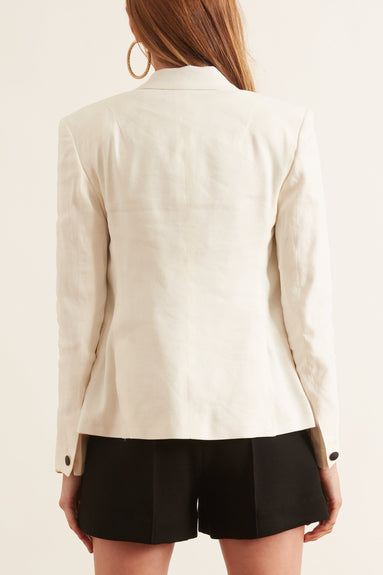 Fletcher Linen Blazer in Marshmallow