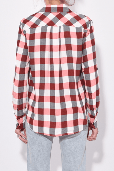 Camile Shirt in Red/Ivory