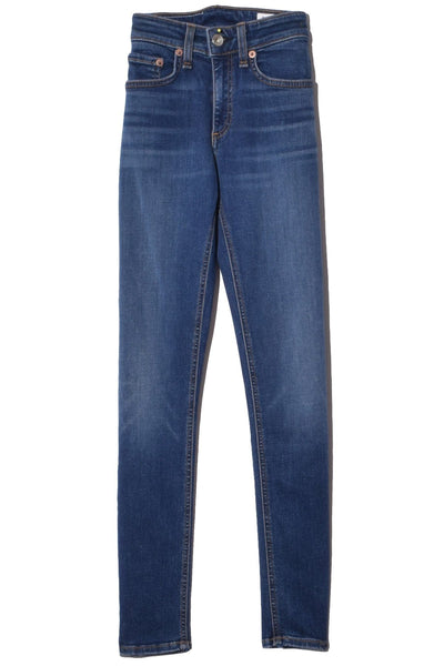 Cate Mid Rise Ankle Skinny Jean in Stevie