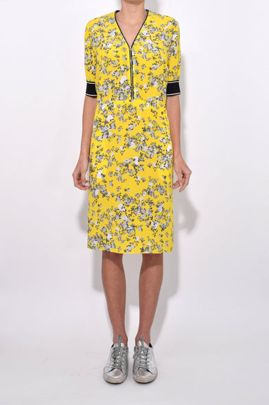 Cecile Dress in Yellow Garden Floral