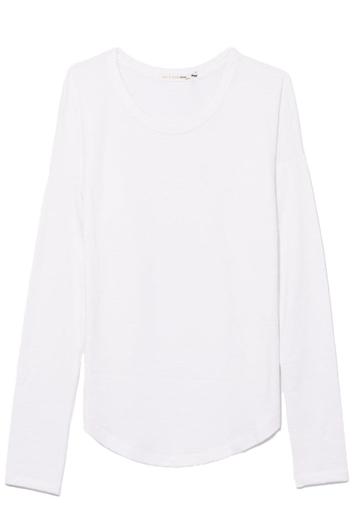 The Hudson Long Sleeve in White