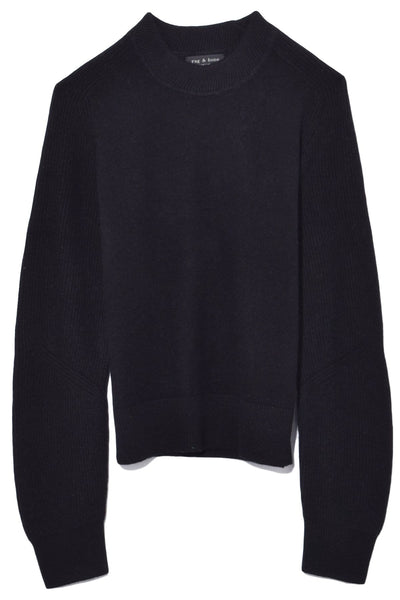 Logan Cashmere Crew in Black