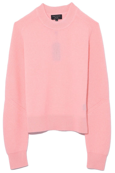 Logan Cashmere Crew in Pink Rose