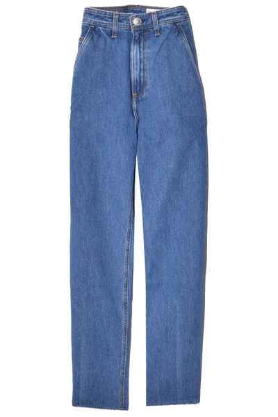 Ruth Super High Rise Straight Jean in Clean Lagoon