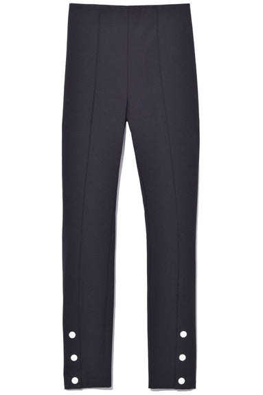 Simone Snap Front Pant in Black