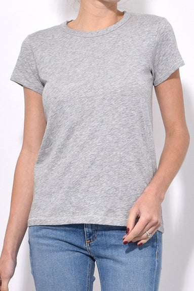 The Tee in Heather Grey