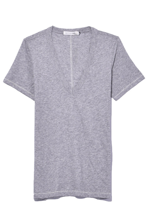 The Vee in Heather Grey