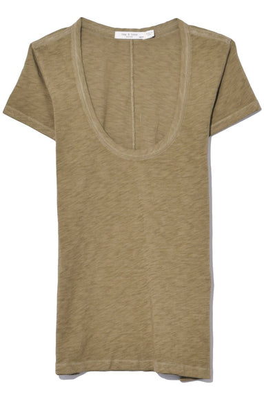 U Neck Tee in Drygrass