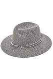 Zoe Fedora in Light Heather Grey