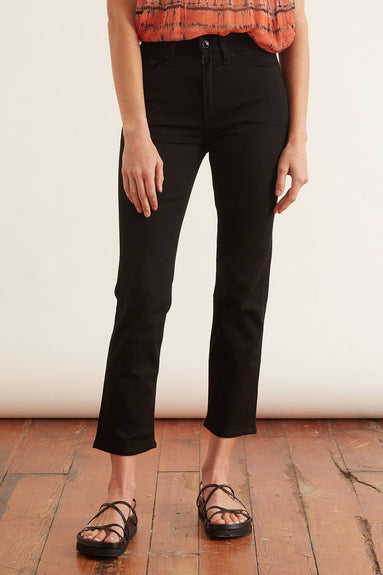 Nina High Rise Ankle Cigarette Jean in No Fade Black