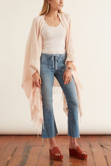 Ombre Poncho in Light Pink