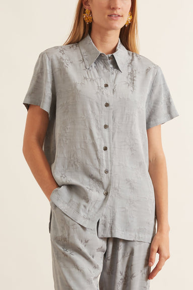 Carina Shirt in Dusty Blue