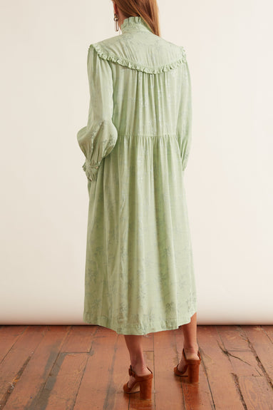 Luna Ruffle Dress in Mint