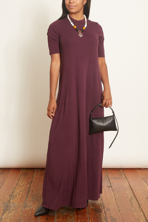 Mod Drama Maxi Dress in Plum