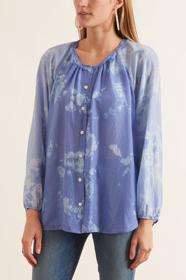 Poet Combo Top in Blue Skies Tie Dye