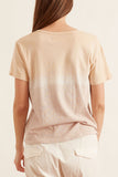 V-Neck Tee in Gold Horizon