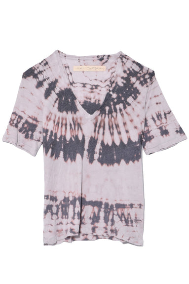 Boxy V-Neck Top in Mercury Tie Dye