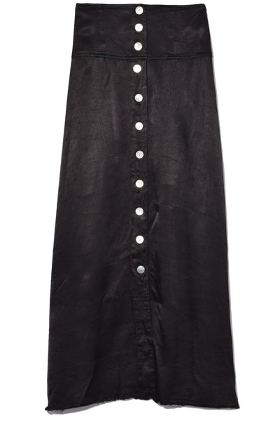Button Front Skirt in Black