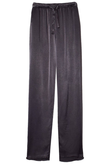 Crepe Back Satin Drawstring Trouser in Slate