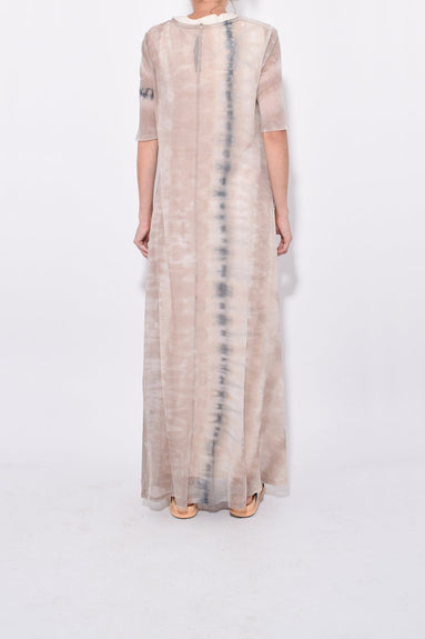 Drama Maxi with Layering in Sand Camo Tie Dye