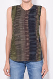 Muscle Tee in Forest Camo Tie Dye