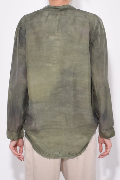 Perfect Henley in Army Camo Tie Dye