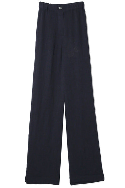 Pleated Rayon Kate Pant in Navy