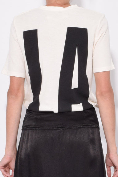 RA/LA Boxy Tee in Black/White