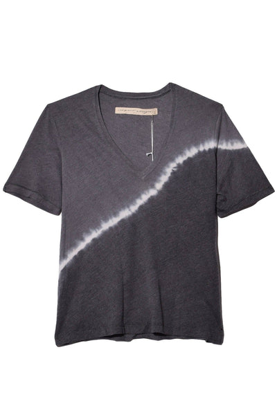 Signature Jersey Boxy V-Neck in Night Grey Tie Dye