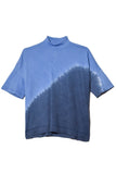 Signature Jersey Mock Neck Boxy Top in Sky Tie Dye