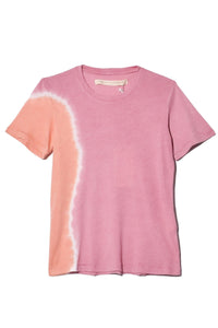 Signature Jersey Slim Tee in Pink Sunrise Tie Dye