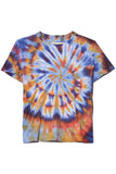 Sueded Baby Jersey Boy Tee in Rainbow Tie Dye