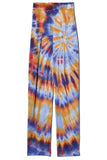 Sueded Baby Jersey Easy Pant in Rainbow Tie Dye