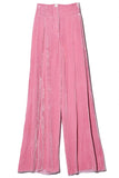 Velvet Tie Dye Pleated Trouser in Sunrise Tie Dye