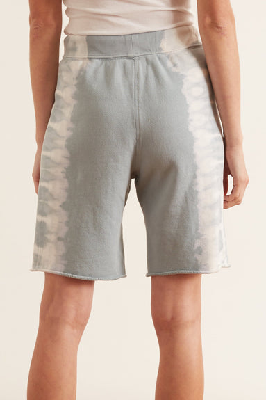 Athletic Shorts in Dusty Blue Tie Dye