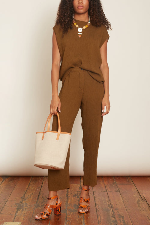 Cropped Pant in Tobacco