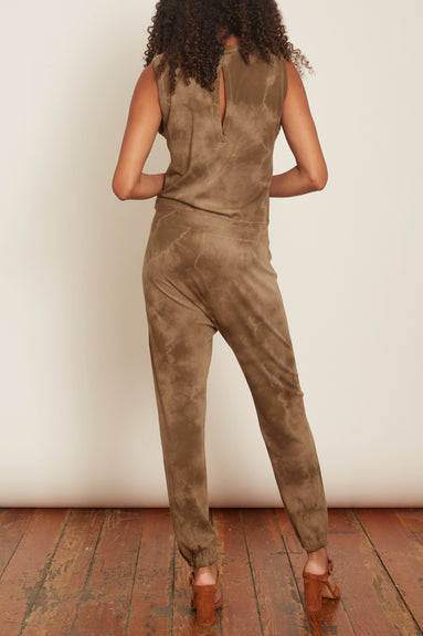 Jumpsuit in Army Tie Dye