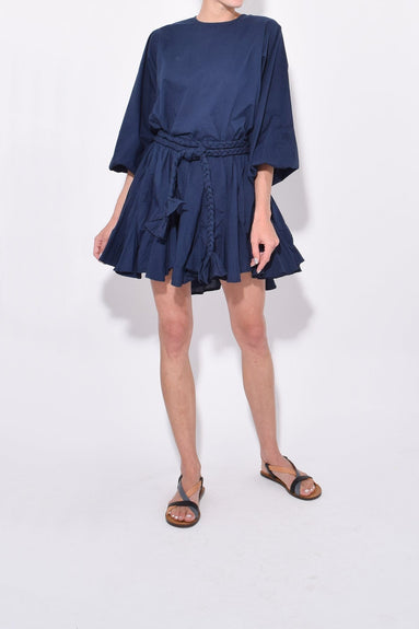 Ella Dress in Navy Print