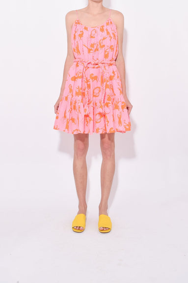 Nala Dress in Pink Orange Figure