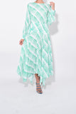 Elsa Dress in Teal Blue Sponge Check