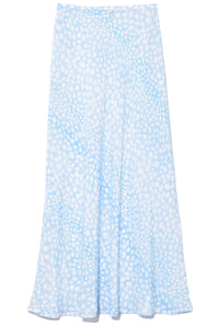Kelly Skirt in Ombre Blue Leopard