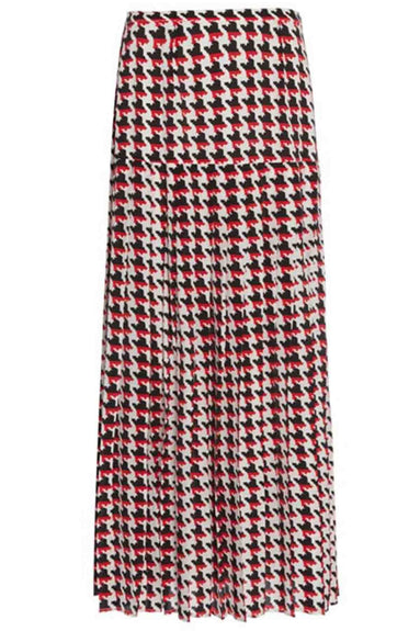 Tina Skirt in Houndstooth Red Mono